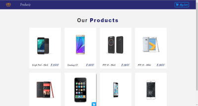 Celphone Store Website Template Image