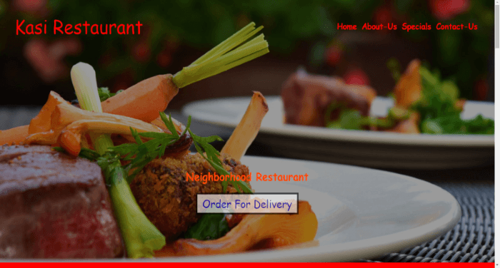 Restaurant / Food Website Template Image