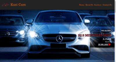 Car Delearship Website Template Image