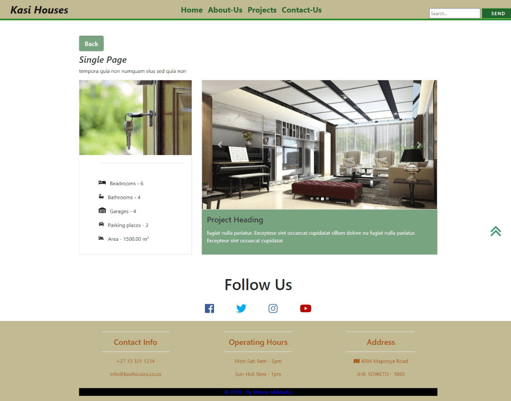 Property-Agency-Web Template Third-Page