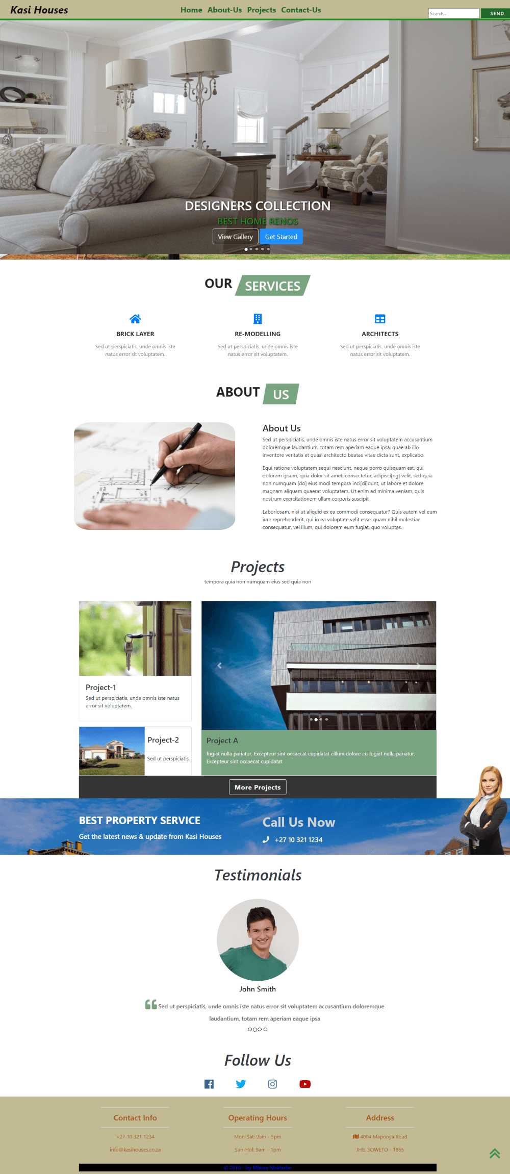 Property-Agency-Web Template Full-Page