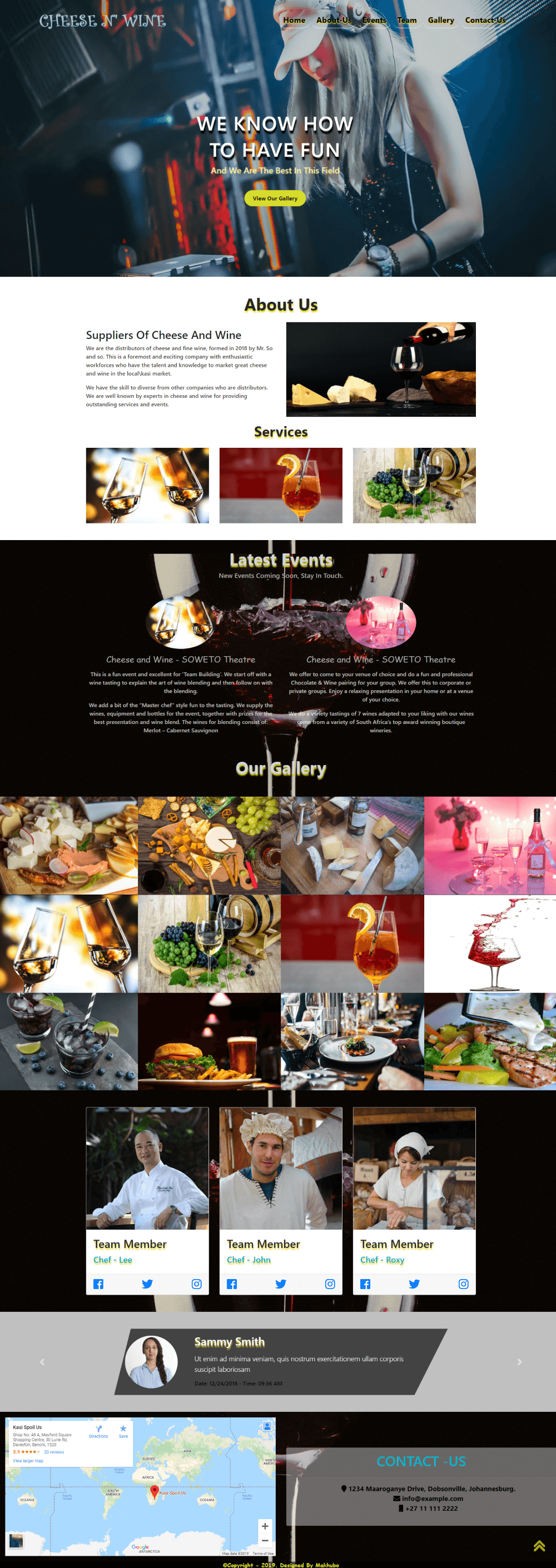 Wine-Web Template Full-Page